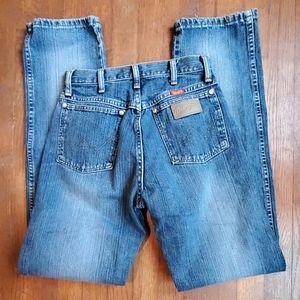 Vintage wrangler high waist straight leg jeans